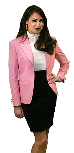 pink blazer for women