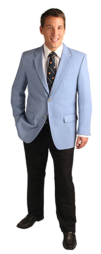 powder blue light blue blazer